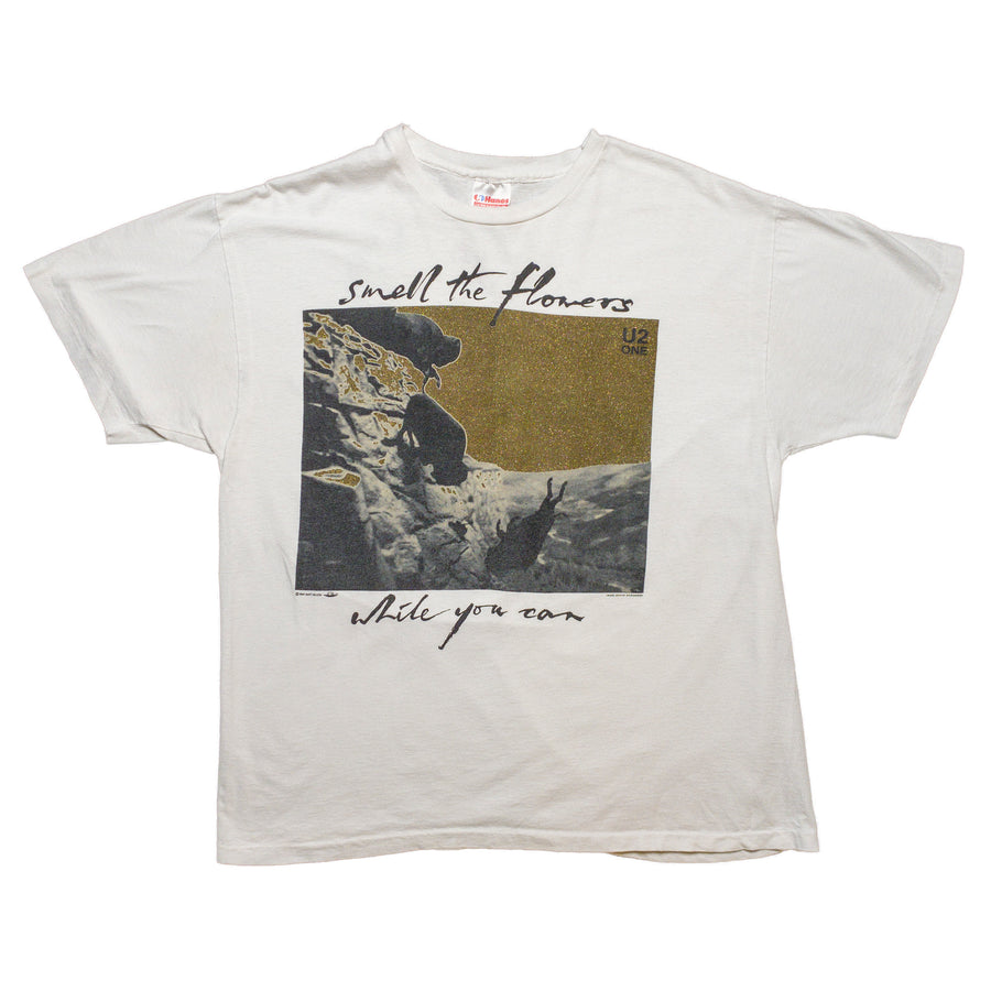 1991 U2 Smell The Flowers While You Can Tour T-Shirt
