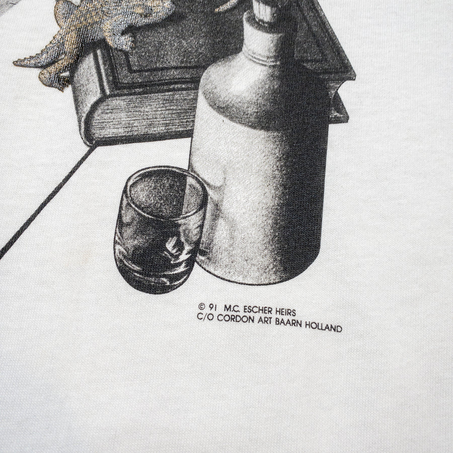 1991 MC Escher Deadstock Reptiles Vintage Art Promo T-Shirt