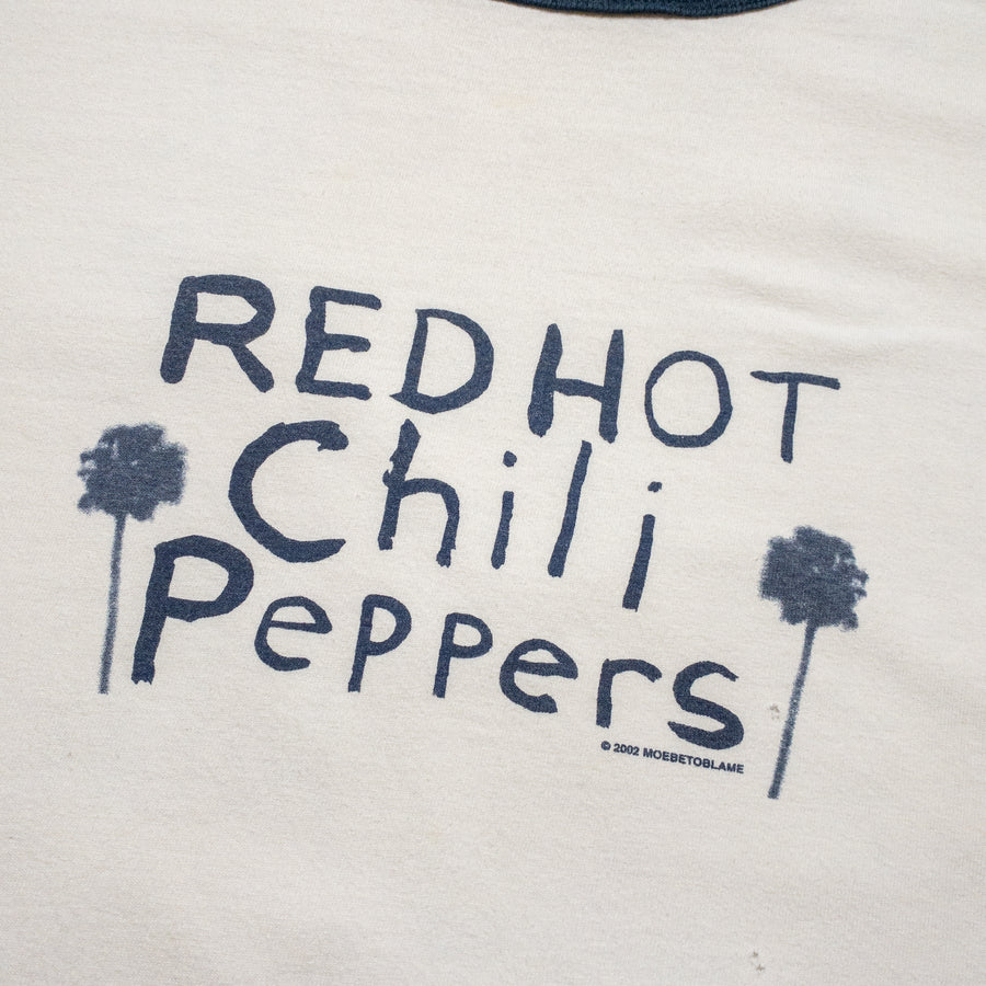 2002 Red Hot Chili Peppers Palm Tree Ringer T-Shirt