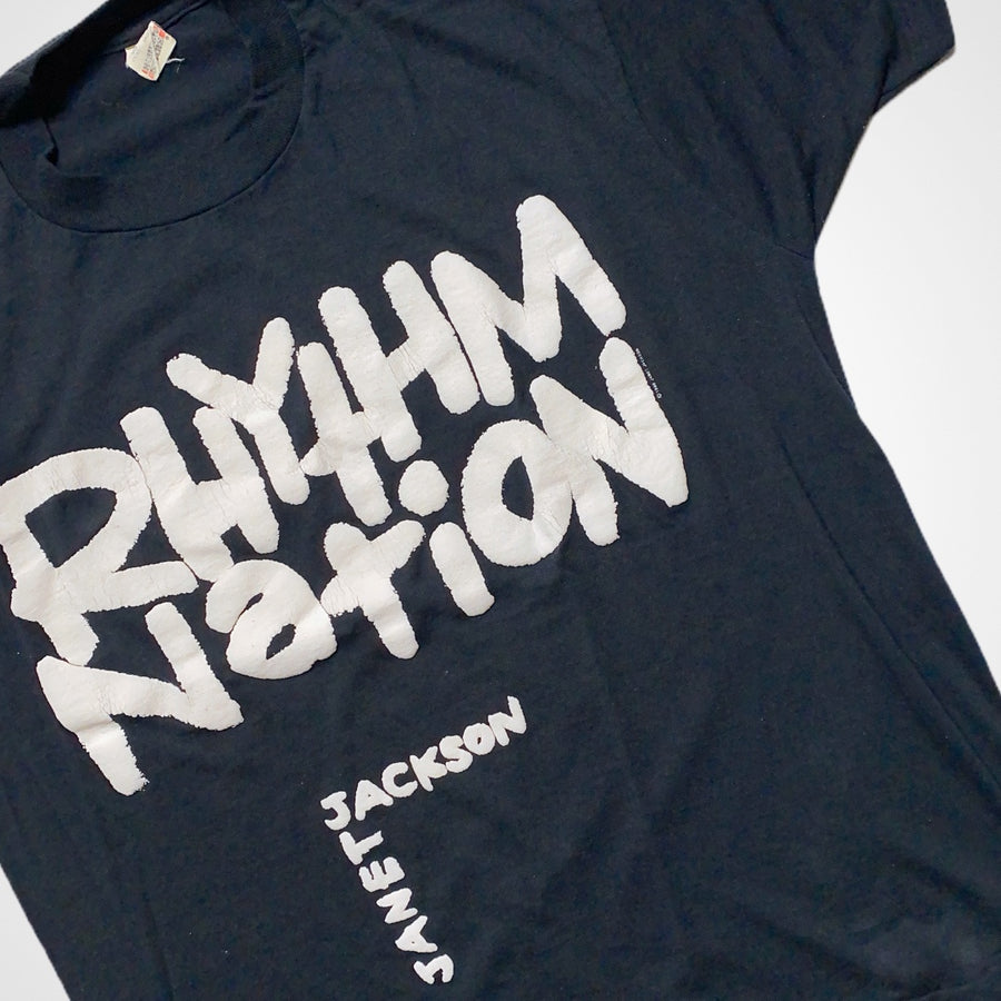 Vintage 1990 Janet Jackson Rhythm Nation Tour T-Shirt