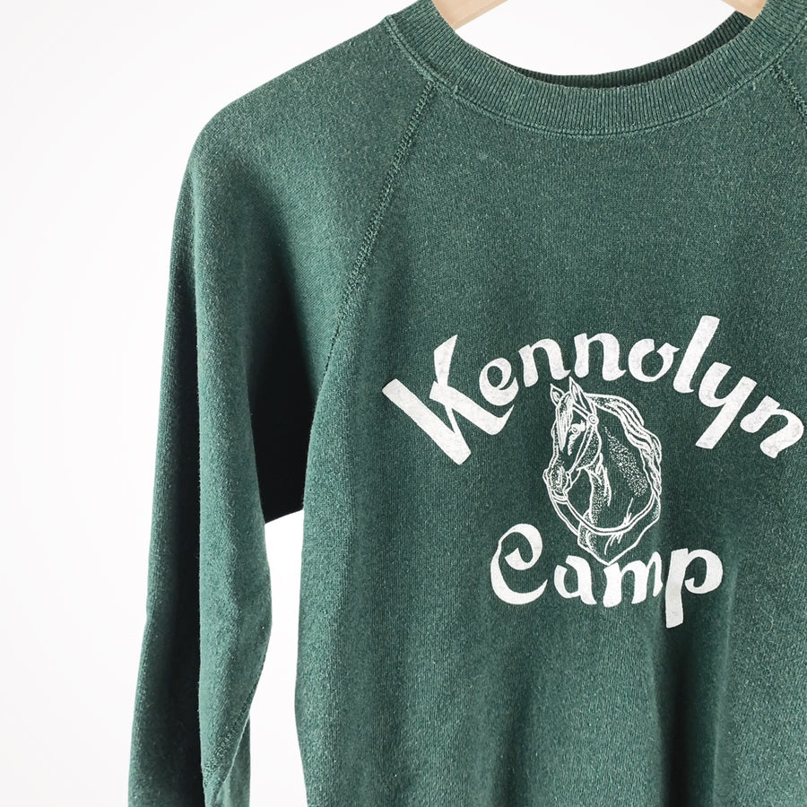 Vintage 80s Kennolyn Summer Camp Horse Pullover Sweater