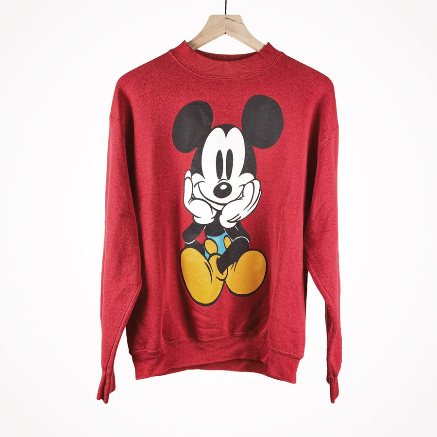 80s Mickey Disney Double Sided Backside Crewneck Pullover Sweater
