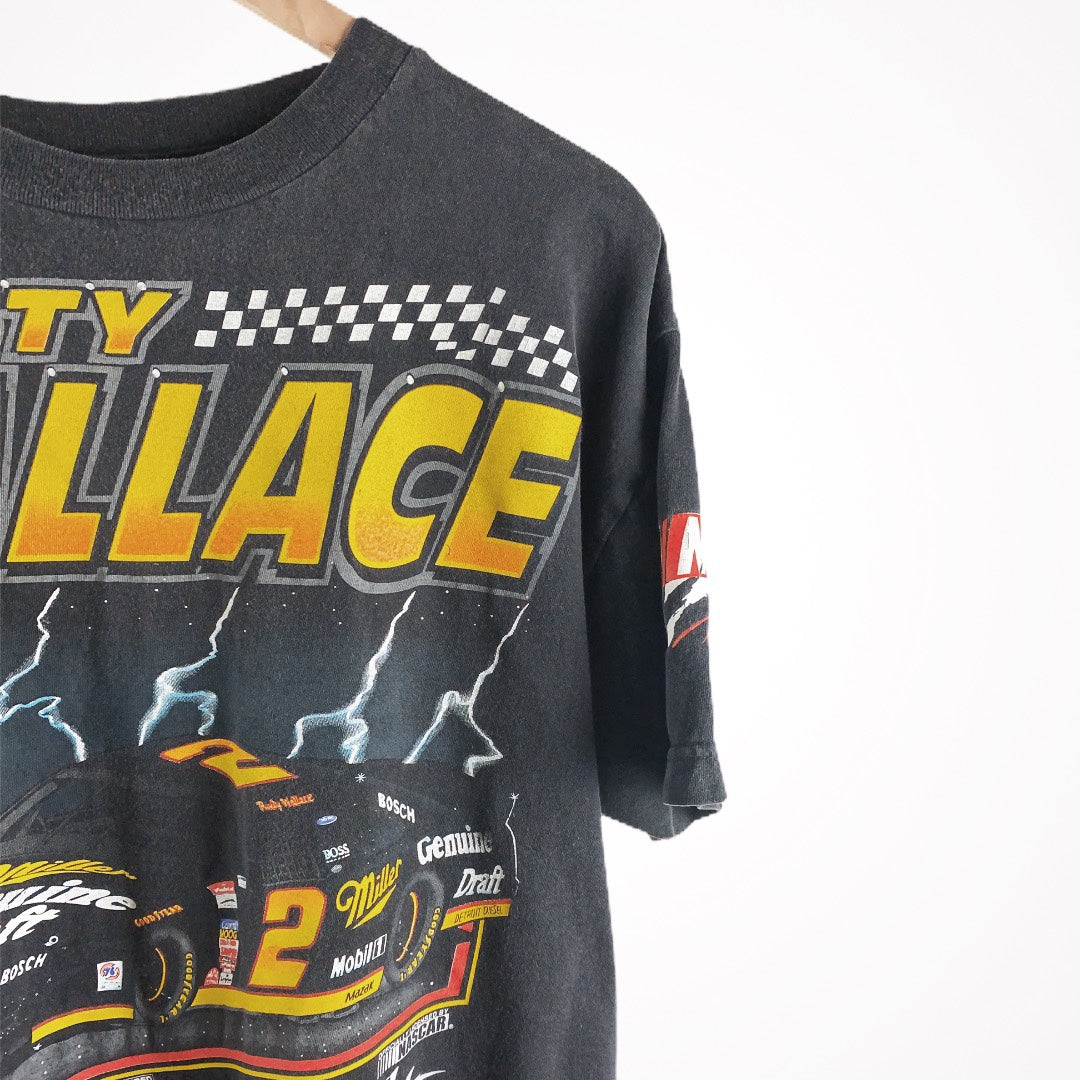 Vintage Nascar 90s Rusty Wallace Midnight Strikes Racing Promo T-Shirt