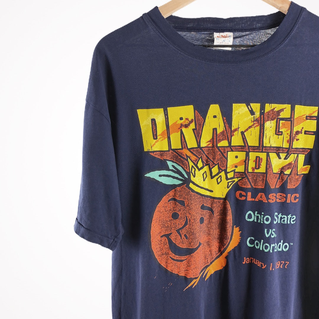 1977 Orange Bowl Ohio V Colorado 70s Single Stitch College Promo T-Shirt