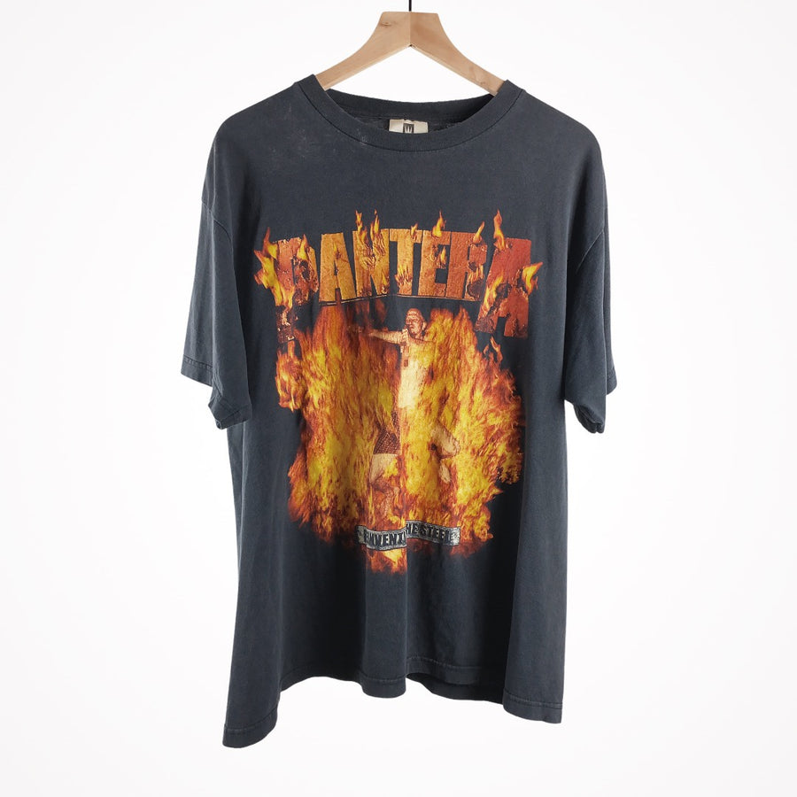 Vintage Pantera 2000 Reinventing the Steel Winterland Flames Album Promo Band T-Shirt