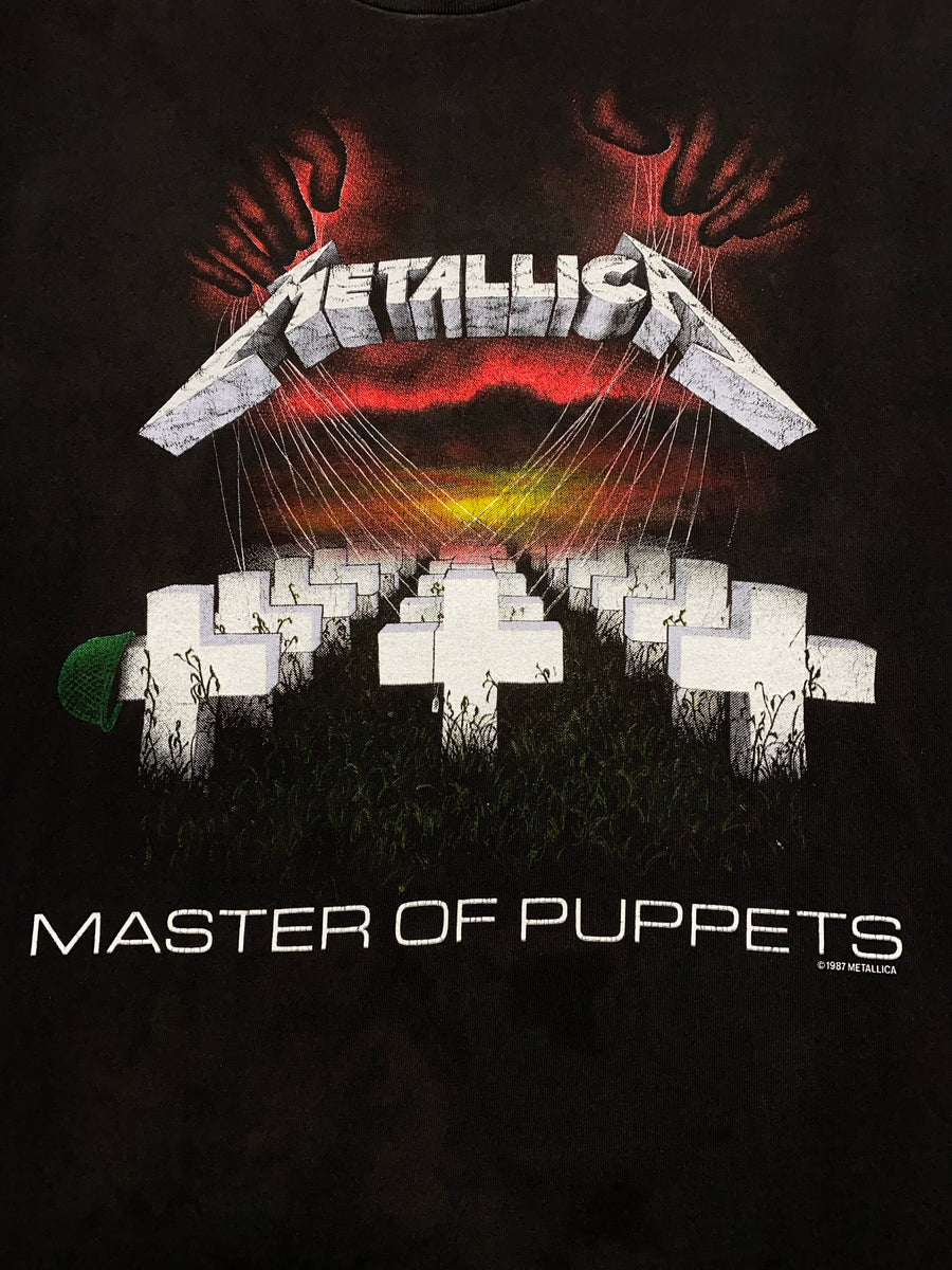 1987 Metallica Master of Puppets Tour Vintage T-Shirt