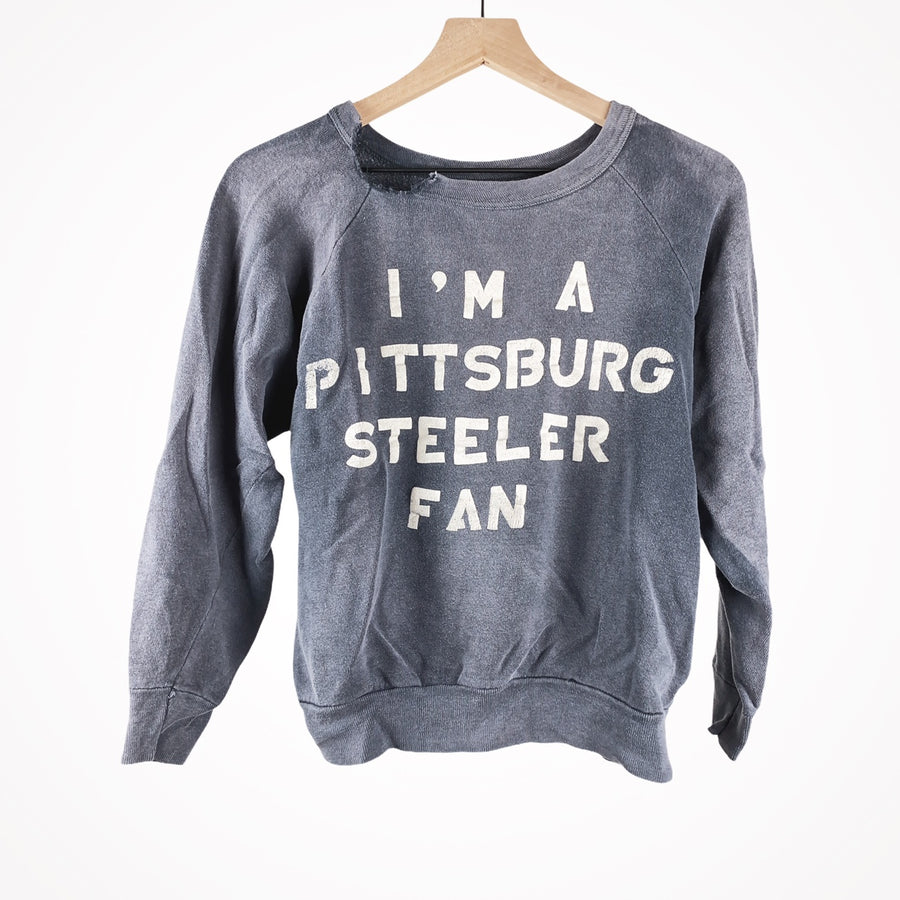 1975 Worn and Faded Pittsburg Steeler Fan Pullover