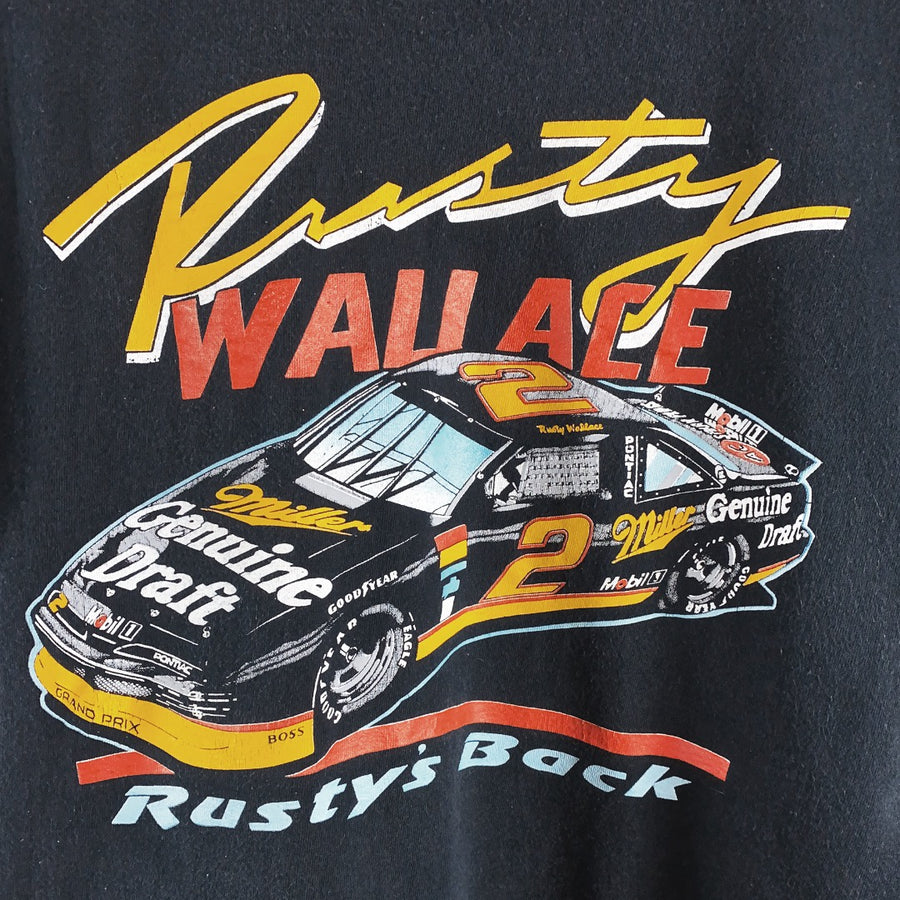 Vintage Nascar 90s Rusty Wallace Racing Promo Single Stitch T-Shirt