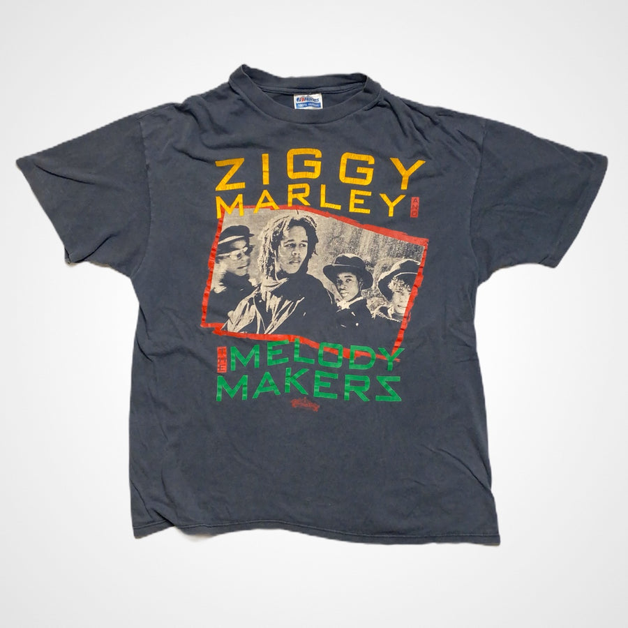 Vintage 80s Ziggy Marley and the Melody Makers Photo Promo T-Shirt