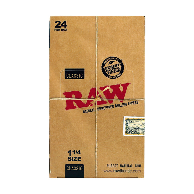 "Raw - 1 1/4"" Classic Rolling Papers - 24 Count - 50 Leaves"
