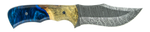 Carved Damascus Hunting Knife #10026
