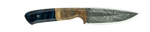 Carved Damascus Field Knife #20055
