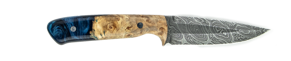 Carved Damascus Field Knife #20058