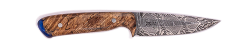 Carved Damascus Field Knife 20232