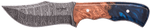Carved Damascus Hunting Knife #10238