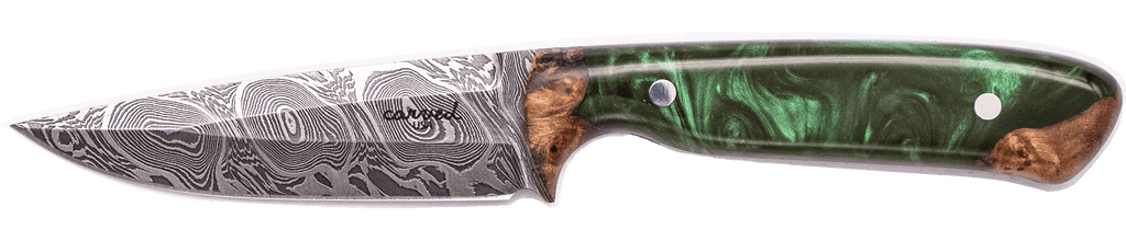 Carved Damascus Field Knife #20231