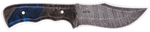 Carved Damascus Hunting Knife #10178