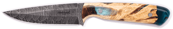 Carved Damascus Field Knife #20271