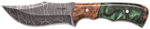 Carved Damascus Hunting Knife #10266