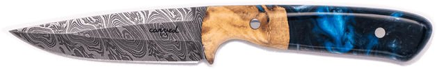 Carved Damascus Field Knife #20249