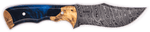 Carved Damascus Hunting Knife #10151
