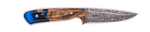 Carved Damascus Field Knife 20207