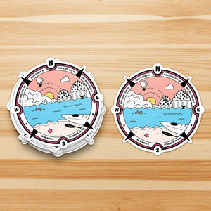 Adventure Sticker with Irish Goodluck Prayer - Waterproof Sticker