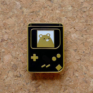 GameBear - Gameboy, Gold and Black Hard Enamel Lapel Pin