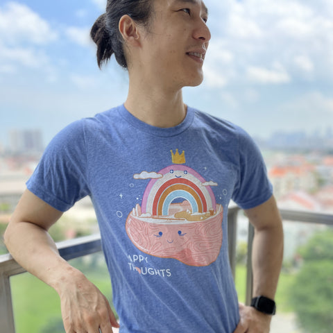 Brainbow Land - Tri blend Cotton t-shirt