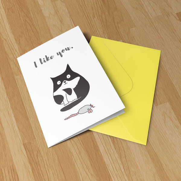 I Like You Greeting Card  - Original Illustration Greeting Card