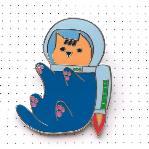 [LAST IN STOCK] Space Cat - Astronaut Cat Hard Enamel Pin - Backpack Pin - Cat Gifts - Cat Jewellery
