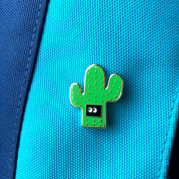 Introverted Cactus Hard  Enamel Pin