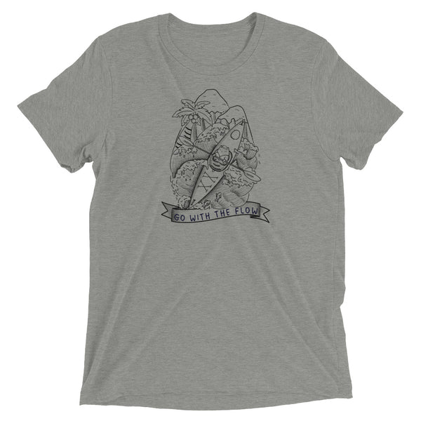 Sea Kayak Adventure Cat Soft Cotton Unisex TShirt Lineart