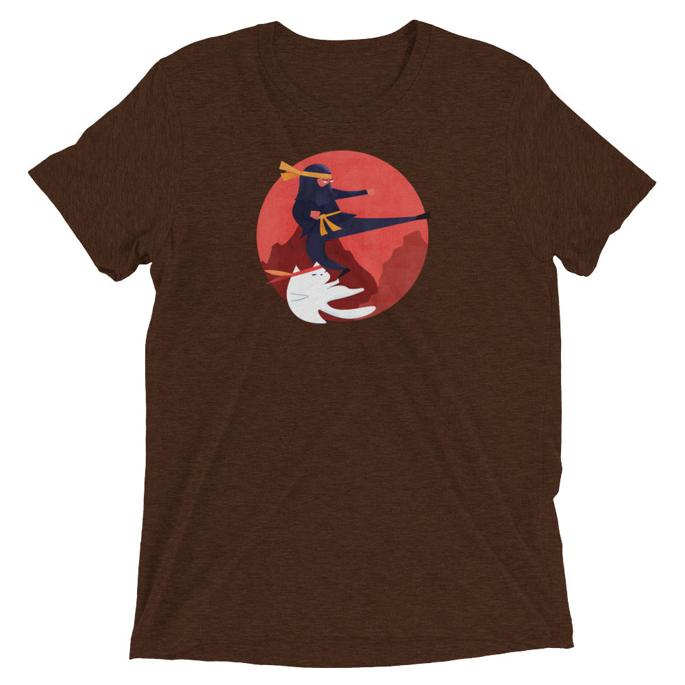 Flying Kick Cat T-Shirt - Super Soft