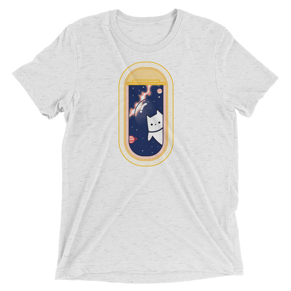 Kitty In Space Soft Cotton T-Shirt - Space Cat - Astronaut Cat