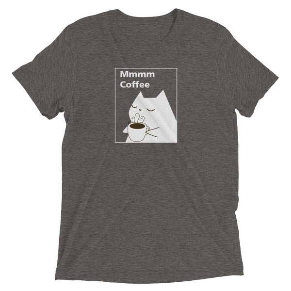 Mmmm Coffee Cat T-Shirt - Supersoft