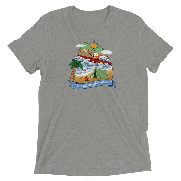 Camping Sea Kayak Cat Soft Unisex T-shirt