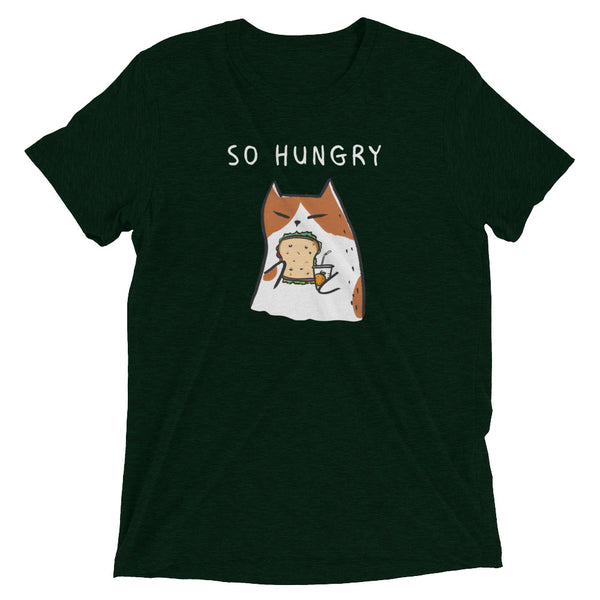 So Hungry Cat - Food Lover Cat T-Shirt - Unisex Graphic Tee - Cat Lover Gift