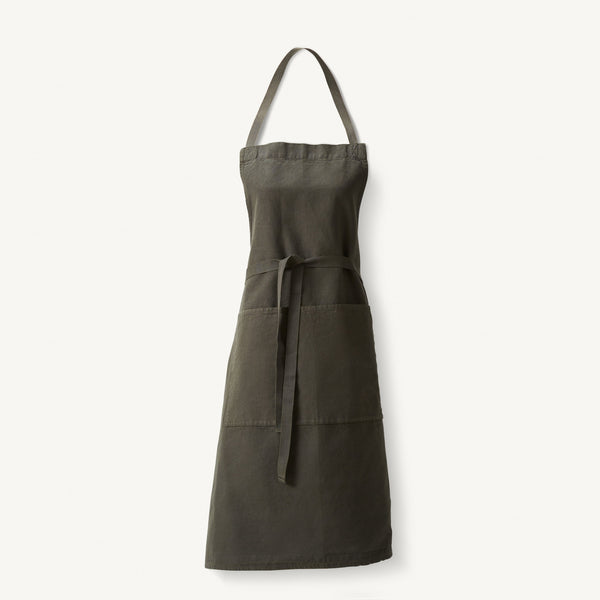 linen apron [COLOR-IVY]