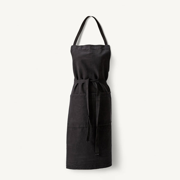 linen apron [COLOR-BLACK]