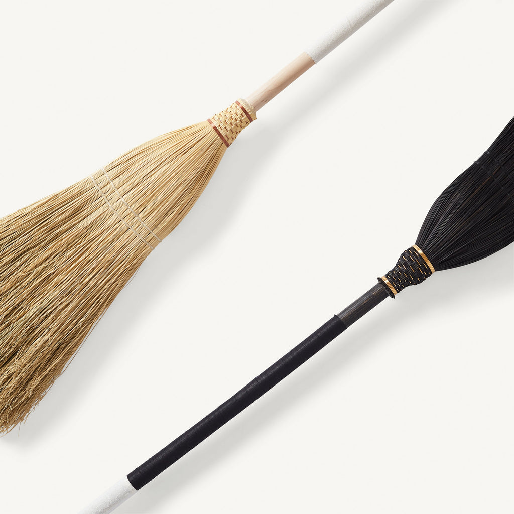 natural Maple and ebonized Oak handmade brooms