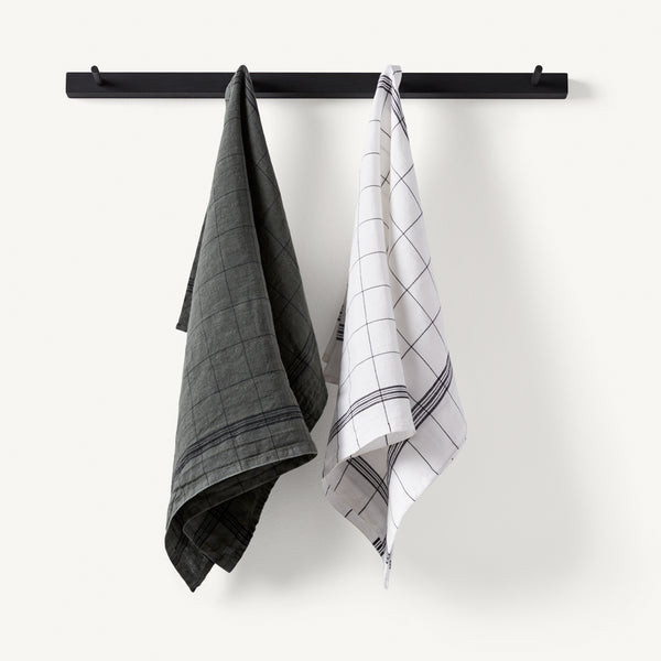 linen tea towel set [COLOR-ROSEMARY]