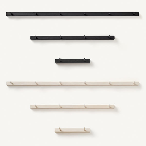 peg rail [COLOR-BLACK] [SIZE-6-PEGS]