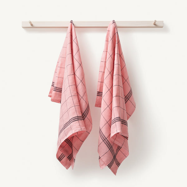 linen tea towel [COLOR-BLUSH]