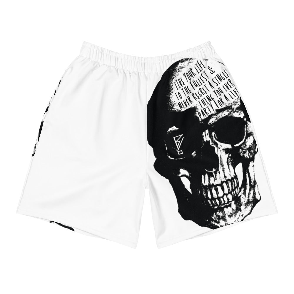 PFAL Skull Men's Athletic Long Shorts - BranVille