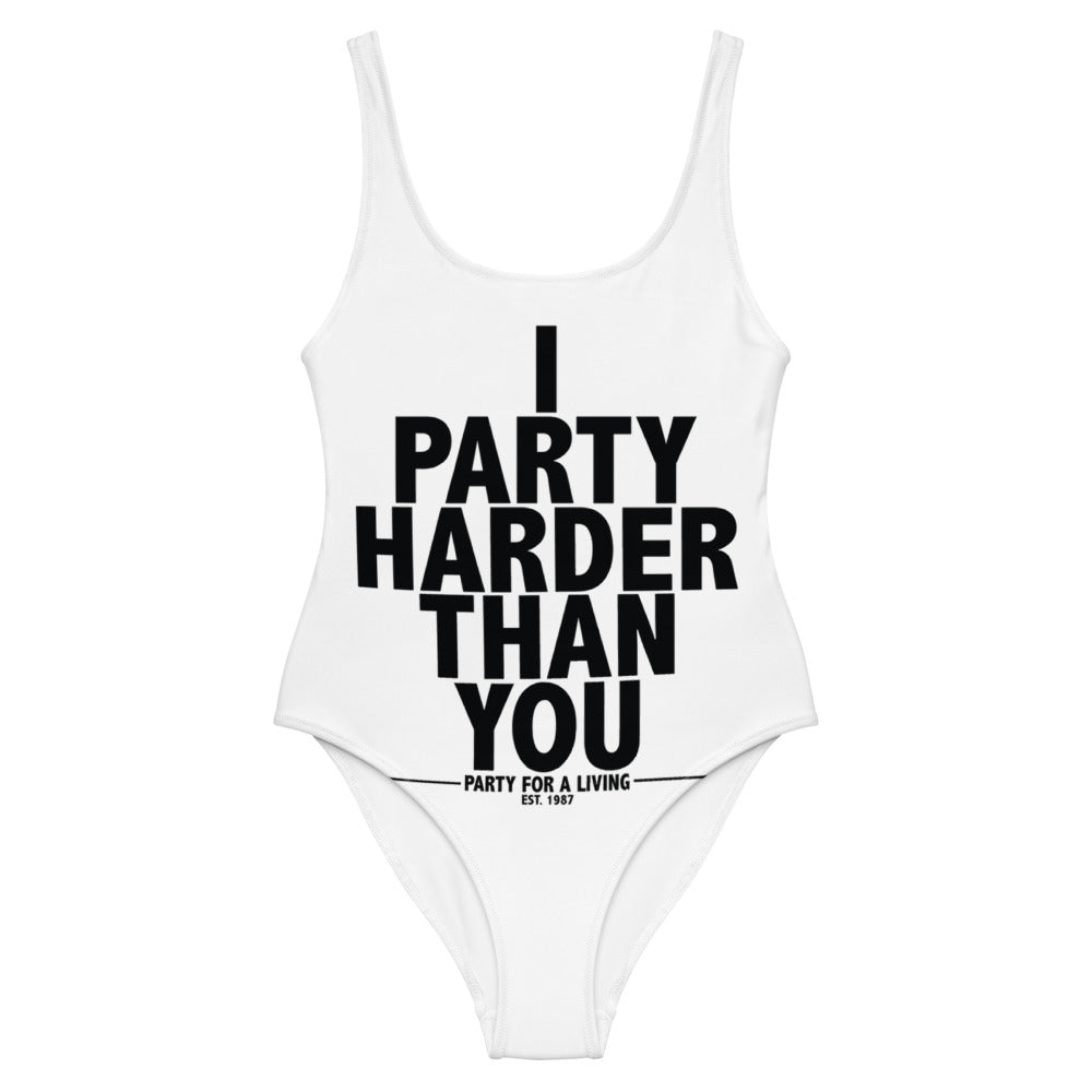 I Party Harder Than You One-Piece Swimsuit - BranVille