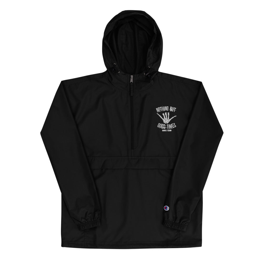Nothing But Good Times Embroidered Champion Jacket - BranVille