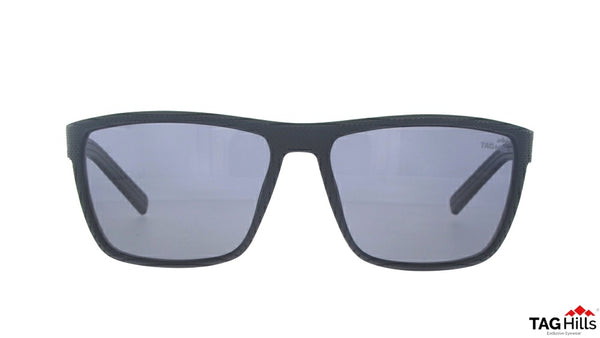 TAG Hills TG S 10229 TG-S-10229 Black Large Rectangle Full Rim UV Polarised Sunglasses