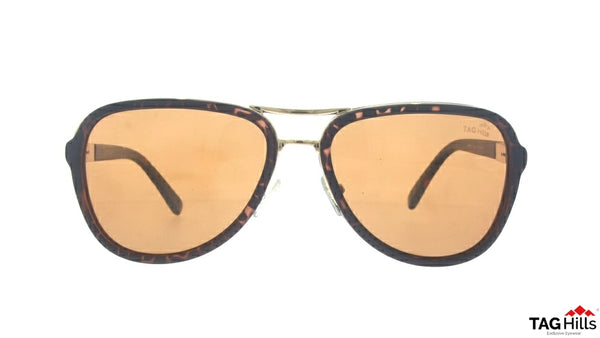 TAG Hills TG S 10232 TG-S-10232 Brown Large Aviator Full Rim UV Polarised Sunglasses