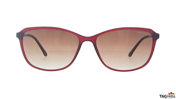 TAG Hills TG S 10396 008 TG-S-10396 Maroon Medium Cat Eye Full Rim UV Polarised Sunglasses